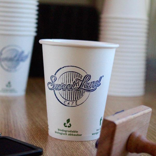 vaso 100% biodegradable y compostable