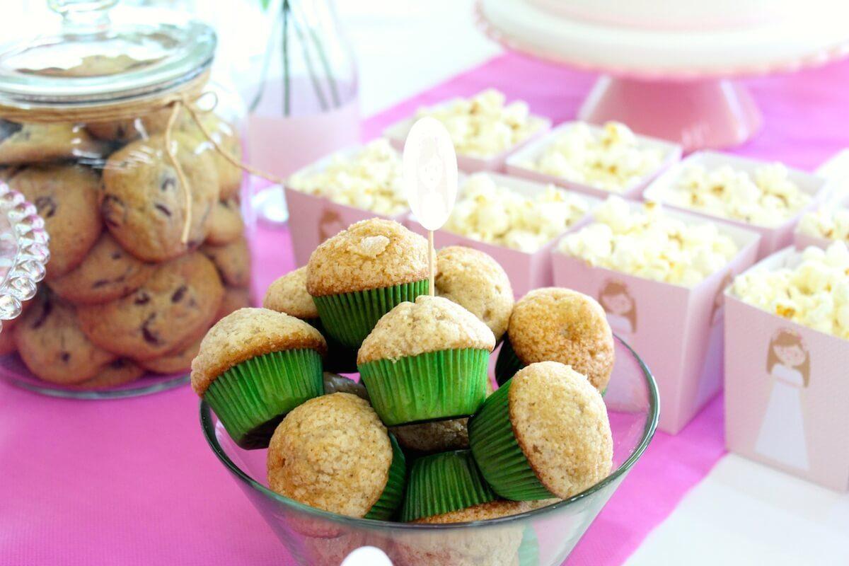 Mini magdalenas y cookies