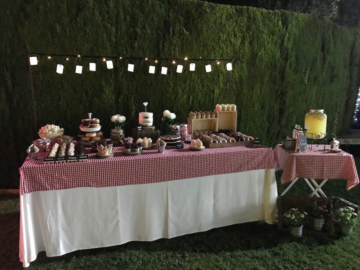 mesa dulce de estilo campestre